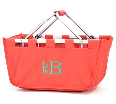 Personalized Coral Market Tote
