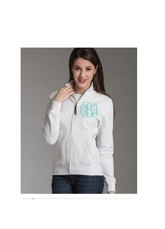Monogrammed Ladies' Full Zip Sweatshirt