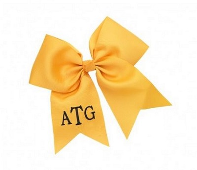 Gold Monogrammed Hairbow