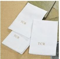 Set of 3 Monogrammed Handkerchiefs