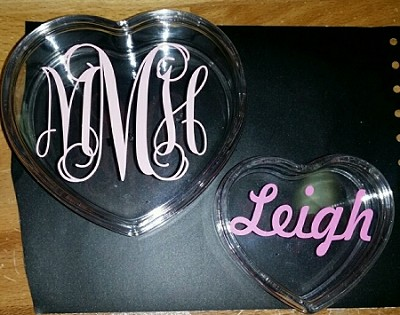 Adorable Acrylic Hearts in 2 sizes