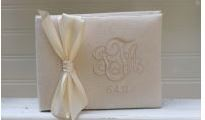 Classic Monogrammed Guest Book