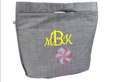 Monogrammed Large Lizzi Insulated Tote