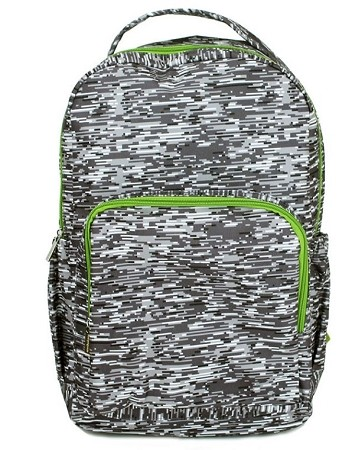 Personalized Mary Square Grey Lines Backpack