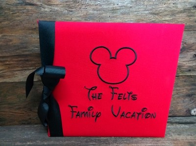 Monogrammed Mickey Mouse Vacation 12x12 photo/scrapbook