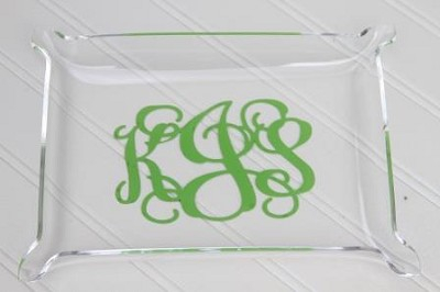 Monogrammed Acrylic Hor d'Oeuvres Tray