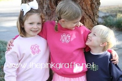 Child's Monogrammed Sweatshirt