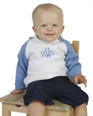 "Monogrammed Child's ""Raglan"" Knit Sweater"