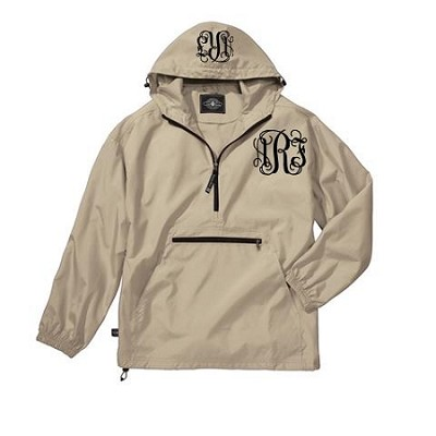 Monogrammed Ladies Ivory Wind Breaker