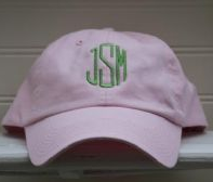 Embroidered Monogram Ball Cap