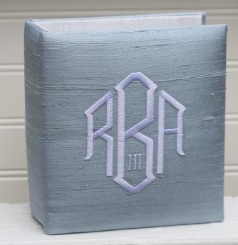 Monogrammed 4x6 Silk Photo Album