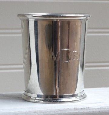 Monogrammed Pewter Mint Julep Cup