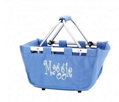 Personalized Mini Market Tote Periwinkle
