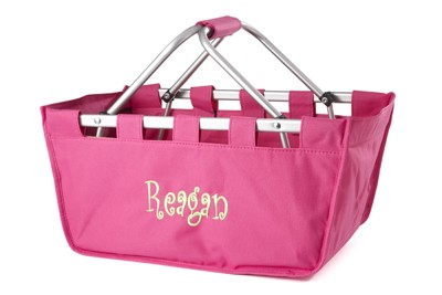 Personalized Hot Pink Market Tote