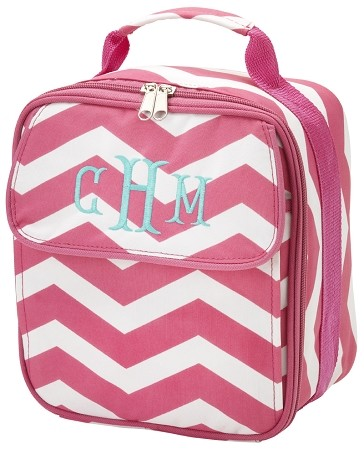 Personalized Hot Pink Chevron Child's Lunchbox