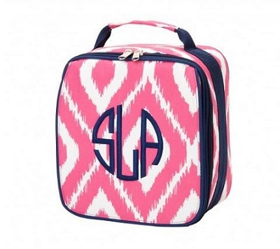"Personalized ""Pink Ikat"" Child's Lunchbox"