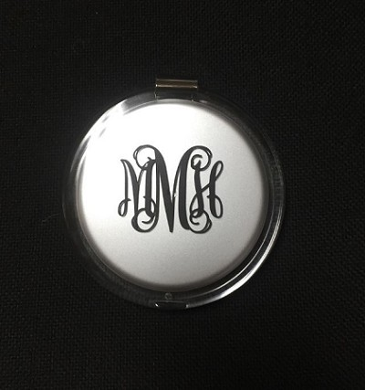 Monogrammed Ladies' Acrylic Pocket Mirror
