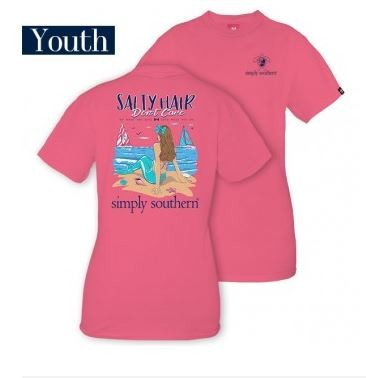 Simply Southern Salty Hair Youth T-Shirt