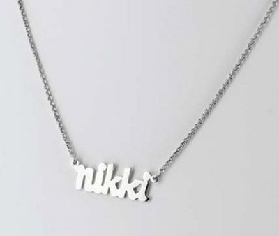 Personalized Small Block Name Necklace