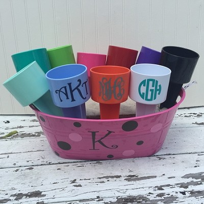 "Personalized ""Spikers"" Beach Drink Holders"