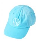 Turquoise Monogrammed Ball Cap