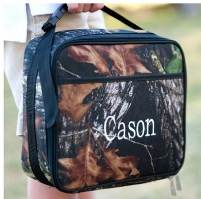 Monogrammed Camo Lunchbox