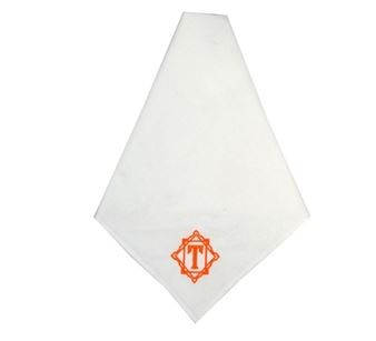 Monogrammed White Cotton Luxury Dinner Napkins